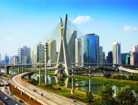 Sao Paulo Brazil bridge sky