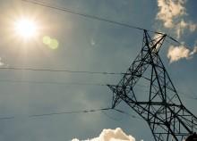Electricity backlit Power Line Africa