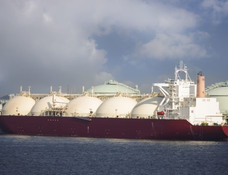 Gas tanker ship vessel