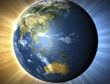 Globe Earth Asia Pacific Region