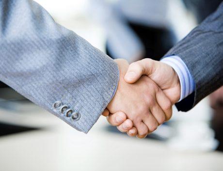 Handshake of businesspeople
