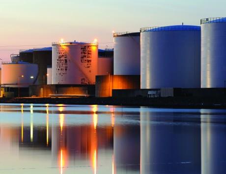 Oil tanks night