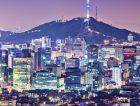 Seoul Skyline South Korea Aerial View