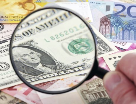 US Dollar Magnifying Glass Currency