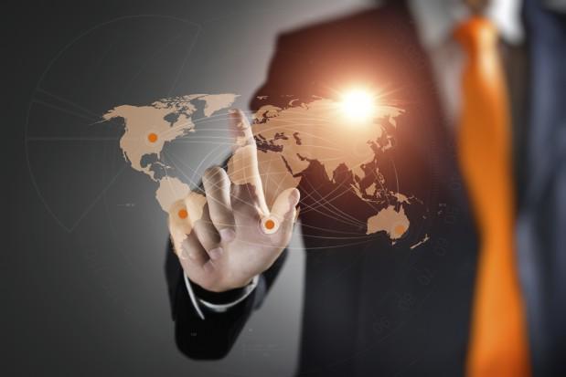 World Map Global Business Technology