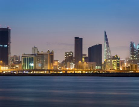 Bahrain Manama city night