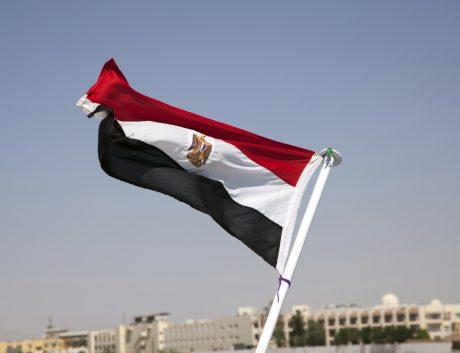 Egyptian flag Middle East sky