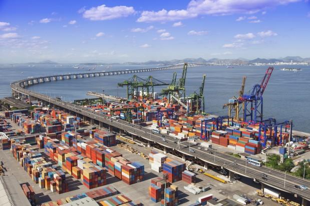 Harbour Brazil Rio de Janeiro containers ship transportation