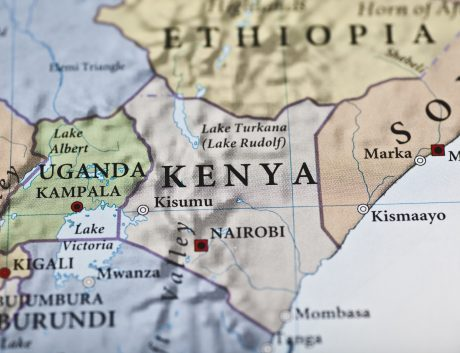 Kenya Africa continent map