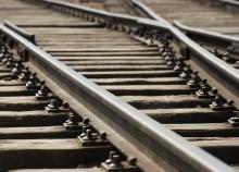 Railroad track train