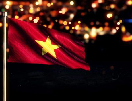 Vietnam Flag Night Lights