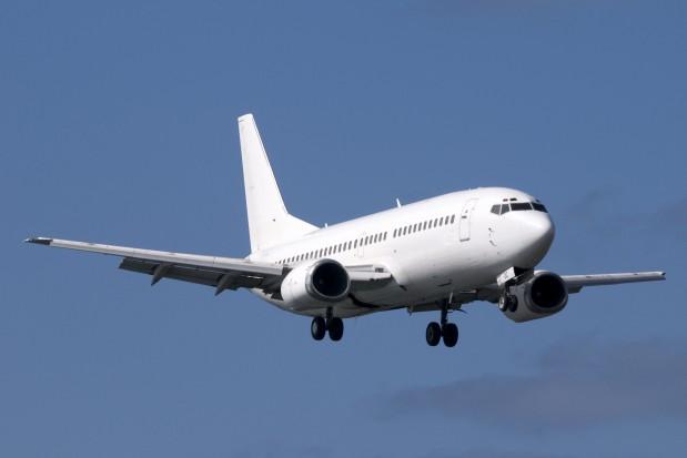 Airplane Boeing 737 in flight Sky