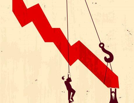 Graph Down Finance Illustration