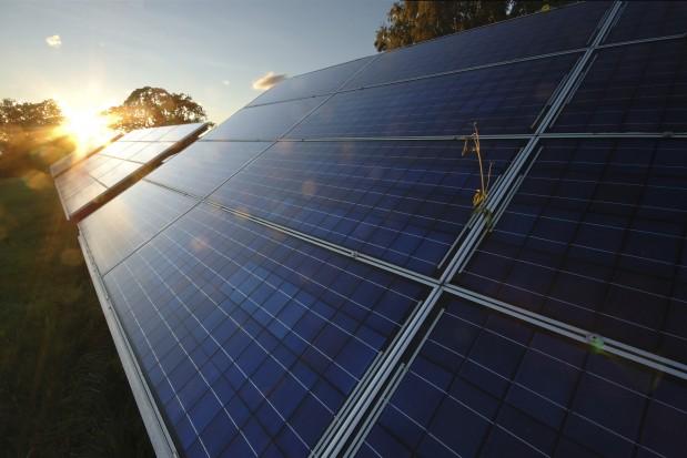 Green Energy Power Station Sunset