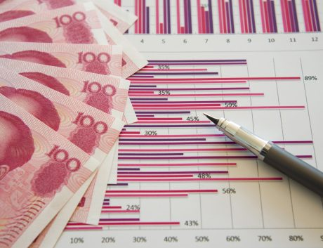 RMB Paper Currency China Investment Business Data