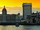 Taj Hotel Mumbai India Yellow Sky
