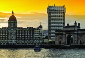 Taj Hotel Mumbai India Yellow Sky