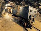 Underground mine tunnel, mining industry