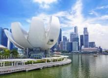 Singapore City Financial District Waterfront