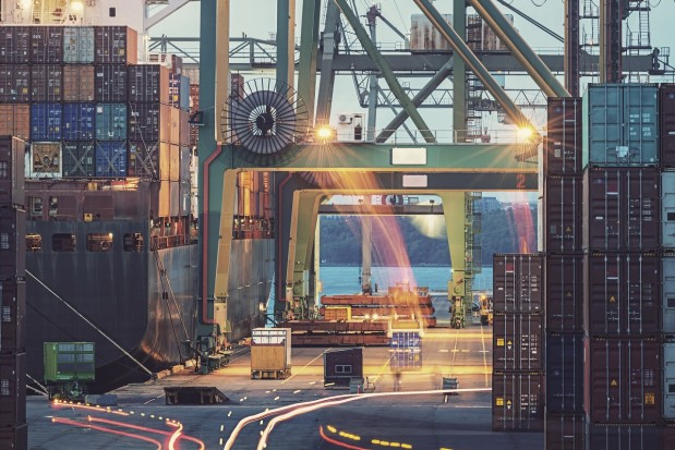 Container Ships Dock Motion