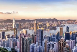 Sunset Over Victoria Harbor, Hong Kong