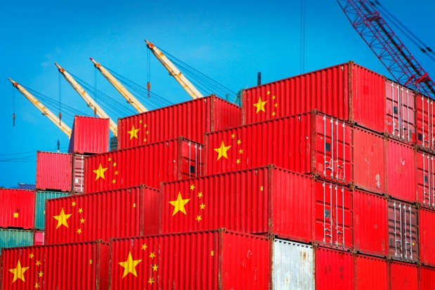Chinese Cargo Containers Port Industry