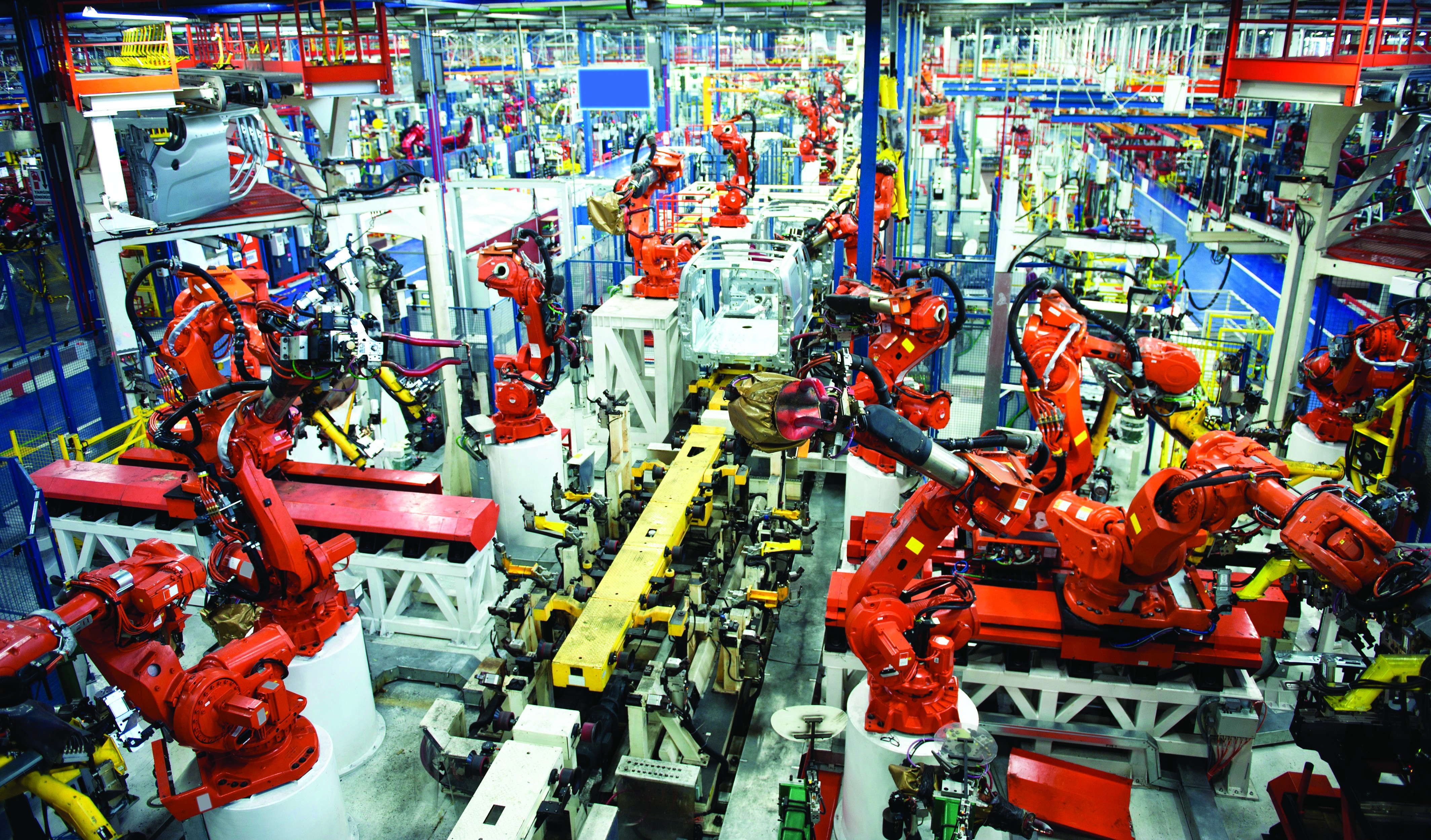 Car production manufacturing plant