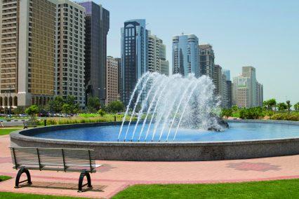 Abu-Dhabi-UAE-City-fountain-water