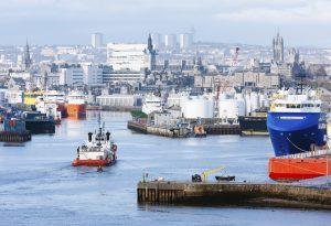 Aberdeen Scotland Harbour UK Commercial Dock