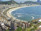 Aerial Rio De Janeiro beach sea