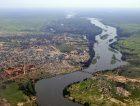 Aerial river Juba South Sudan