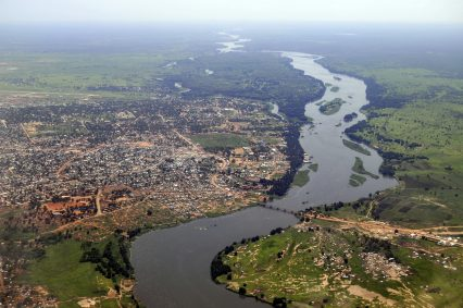 Aerial river Juba South Sudan