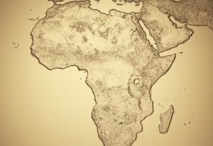 Africa gold map