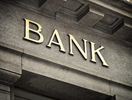 Bank Sign Building