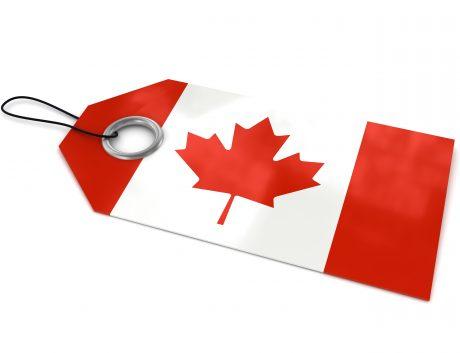 Canada label flag