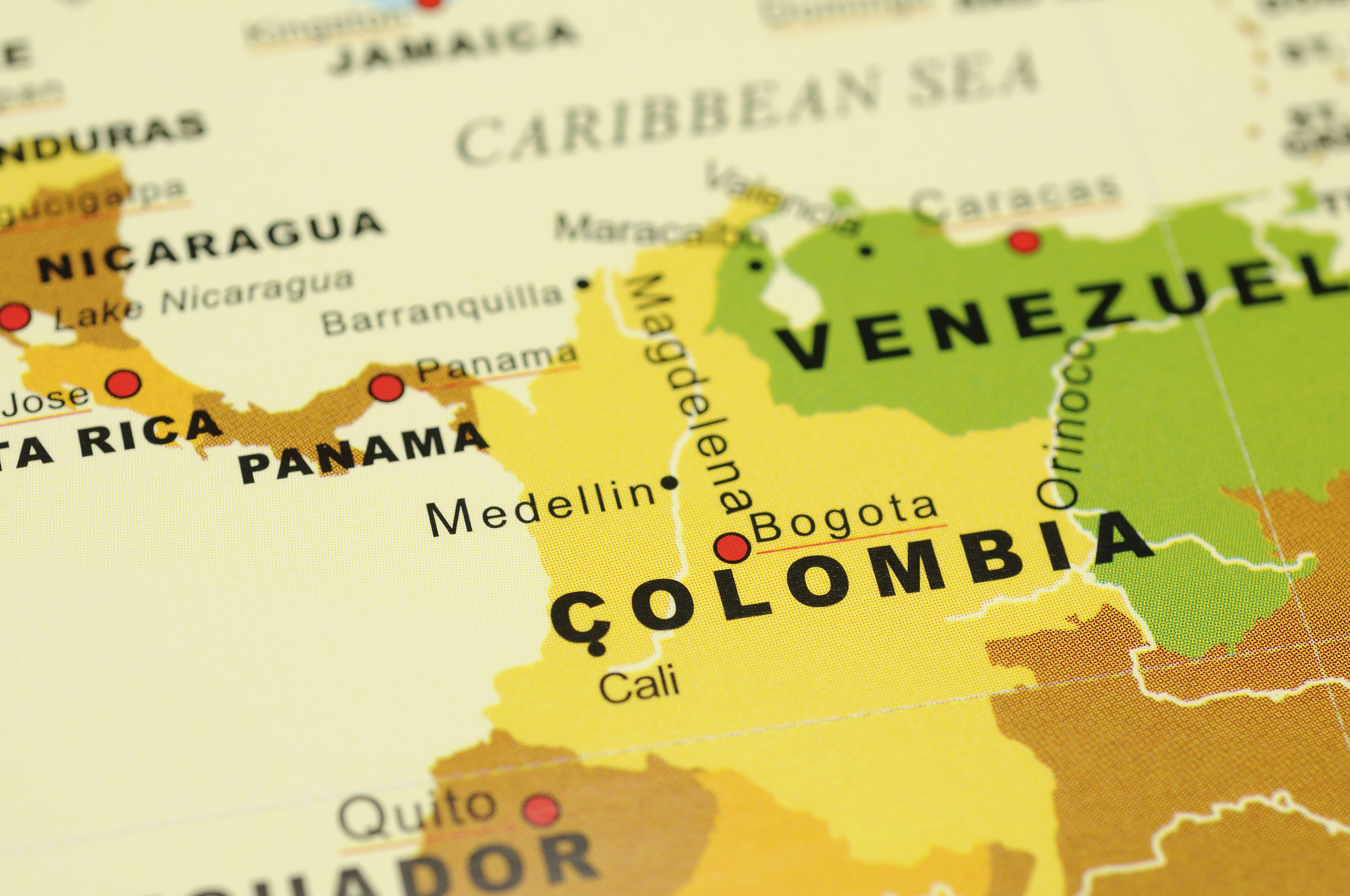 Colombia on map Global Trade Review GTR