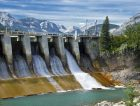 Dam of hydroelectric power plant