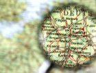 Destination Frankfurt Map Germany Magnifying Glass