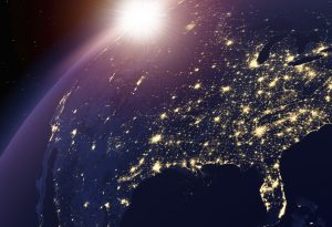 Earth nightlights USA focus