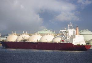 Gas tanker ship vessel