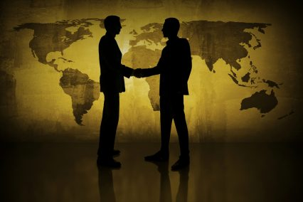 Global business Handshake Meeting