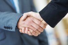 Handshake deal business corporate