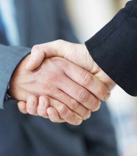 Handshake deal business corporate