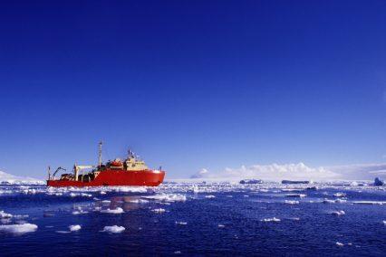 Icebreaker off Antarctica Industrial Ship