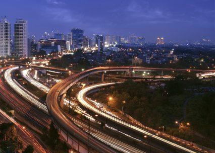 Jakarta Indonesia dusk city
