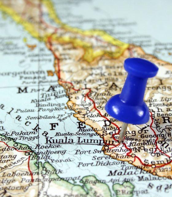 Kuala Lumpur Malaysia map