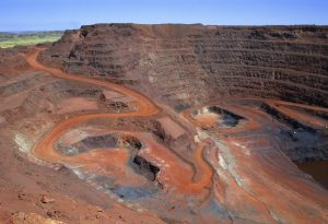 Large open cut iron ore mining