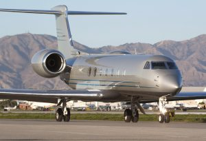 Large private jet corporate