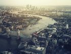 London Cityscrape Skyline Aerial View