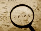 Magnifying glass China map